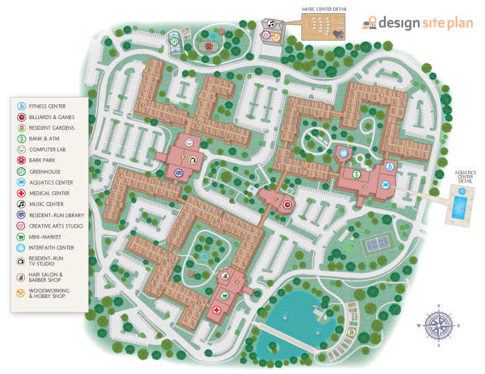 Design site plan site maps that engage retain convert prospects Site plan design